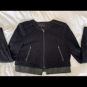Crop Jacket - Leather Accent